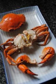 三门青蟹炒年糕的做法步骤:2